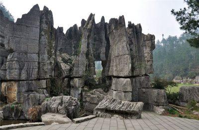 Wansheng Stone Forest in Chongqing