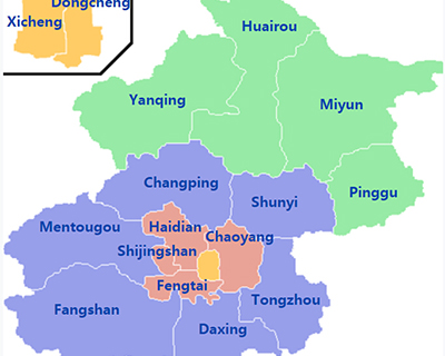 Beijing Administrative Divisions Map