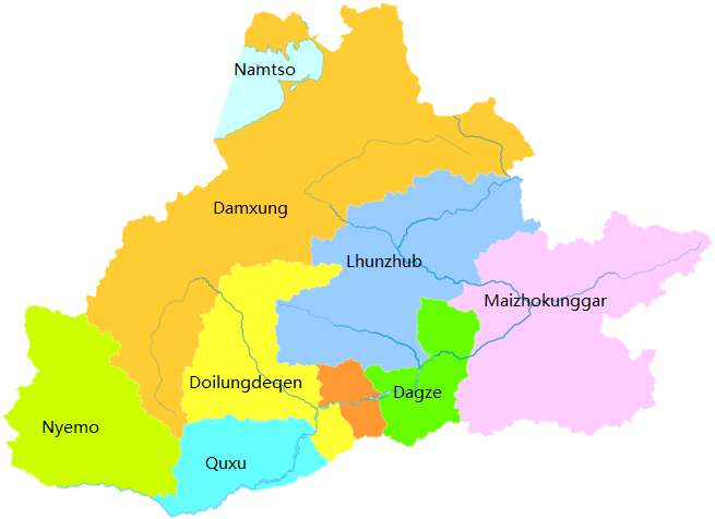 Lhasa Adiministrative Map