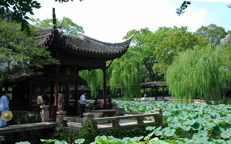 Canglang Pavilion (Blue Wave Pavilion) in Suzhou