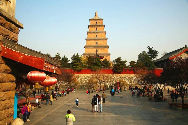 Giant Wild Goose Pagoda in Xian