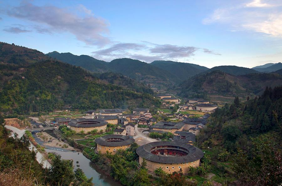 Hekeng Tulou Cluster in Nanjing County, Zhangzhou