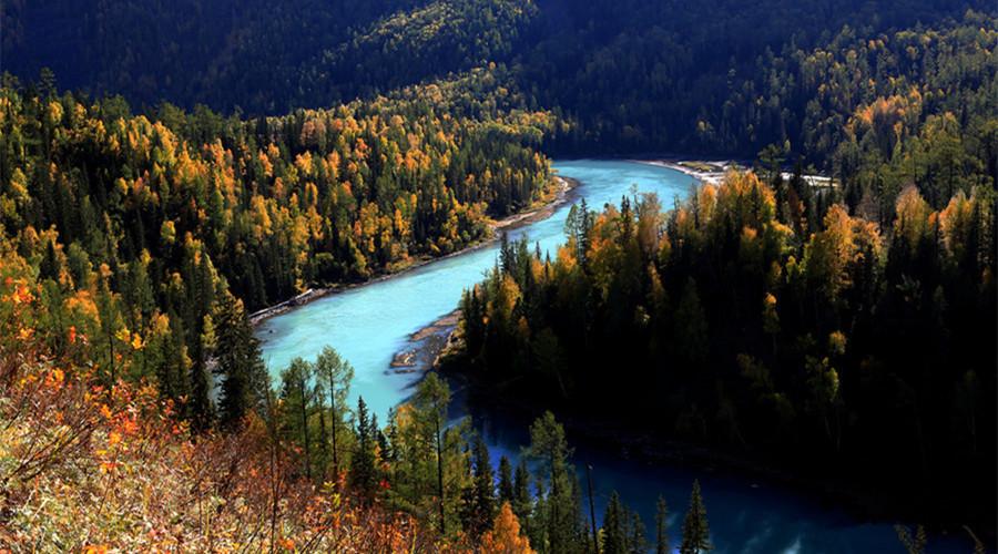 Kanas Lake in Buerjin County, Altay