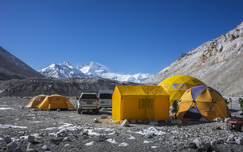 Mount Everest Base Camp in Tibet