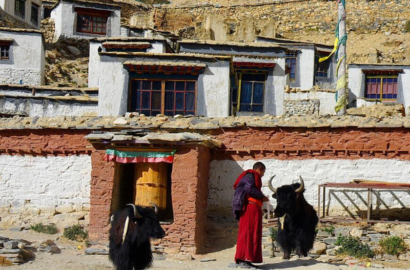 Rongbuk Monastery in Mount Everest, Tibet