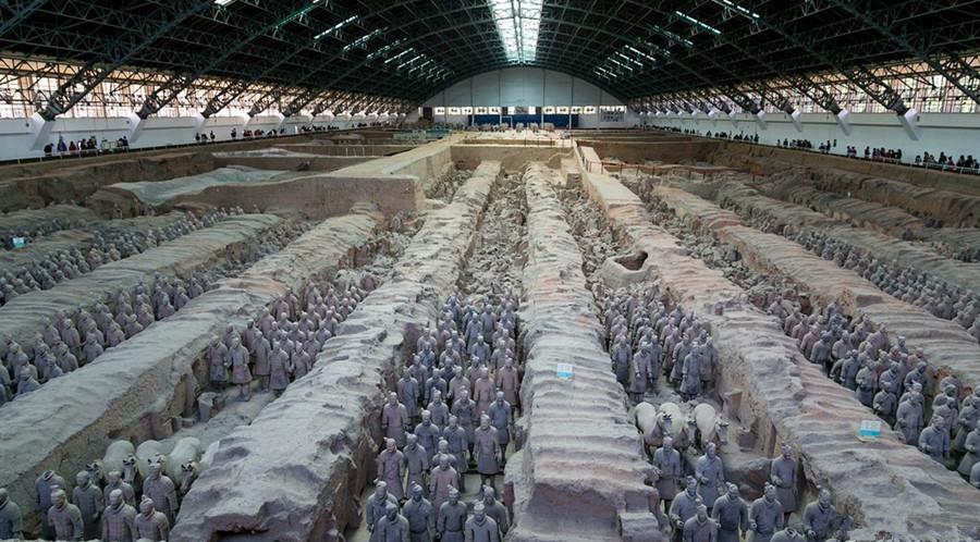 Qin Shi Huang Mausoleum (Mausoleum of the First Qin Emperor) in Xian