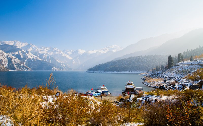 Tianchi Heavenly Lake of Tianshan Mountain in Xinjiang