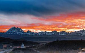 Yala Snow Mountain in Garze Kham Tibet