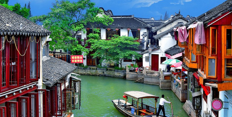 1 Day Shanghai Group Tour with Zhujiajiao Ancient Town and Huangpu River Cruise