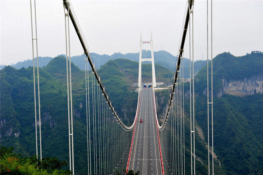 Aizhai Bridge in Jishou City, Xiangxi