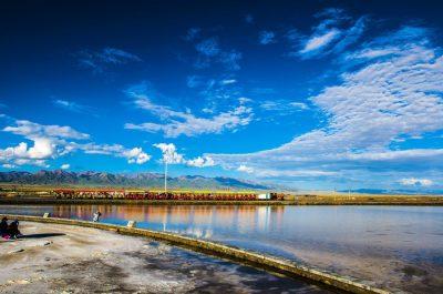 Chaka Salt Lake in Haixi, Qinghai