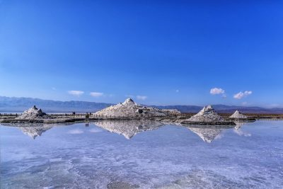 Chaka Salt Lake in Haixi, Qinghai
