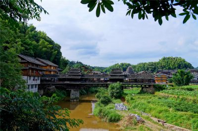 Chengyang Wind and Rain Bridge in Sanjiang County, Liuzhou