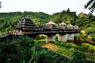 Chengyang Wind and Rain Bridge in Sanjiang County, Liuzhou