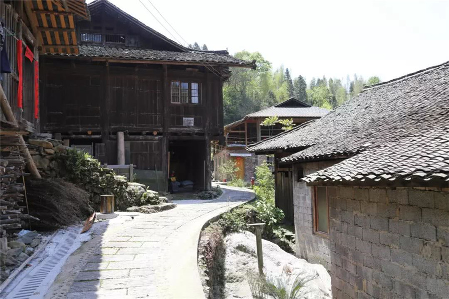 Jiuwu Town in Lingchuan County, Guilin