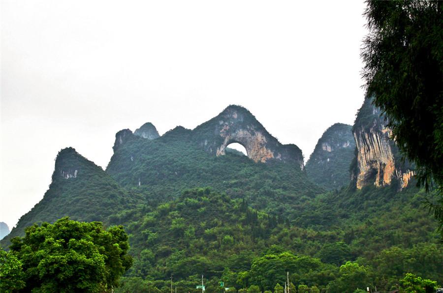 Moon Hill in Yangshuo County, Guilin