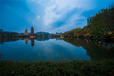 Two Rivers and Four Lakes Scenic Spot in Guilin