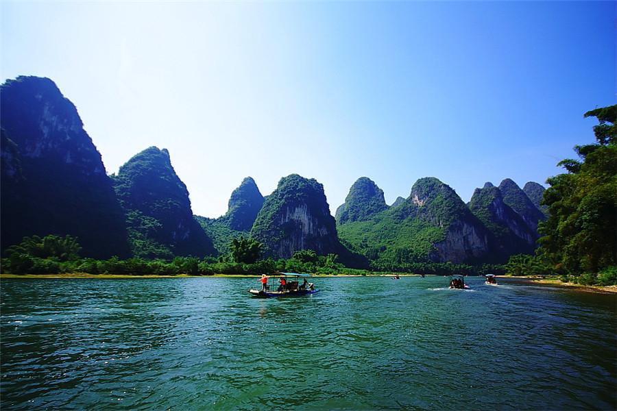 Xingping Scenic Area in Yangshuo County, Guilin