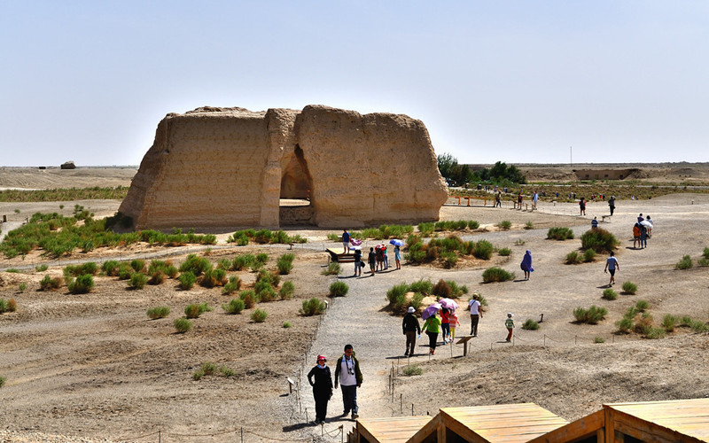 Yumenguan Pass of The Great Wall in Dunhuang