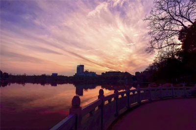 Tianjinghu Park in Tongling City